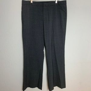 GAP 16R Charcoal Grey Gray Stretch Career Pants